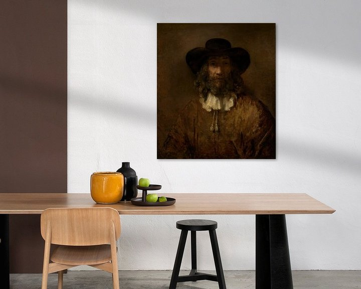 Beispiel: Mann mit einem Bart, Stil von Rembrandt
