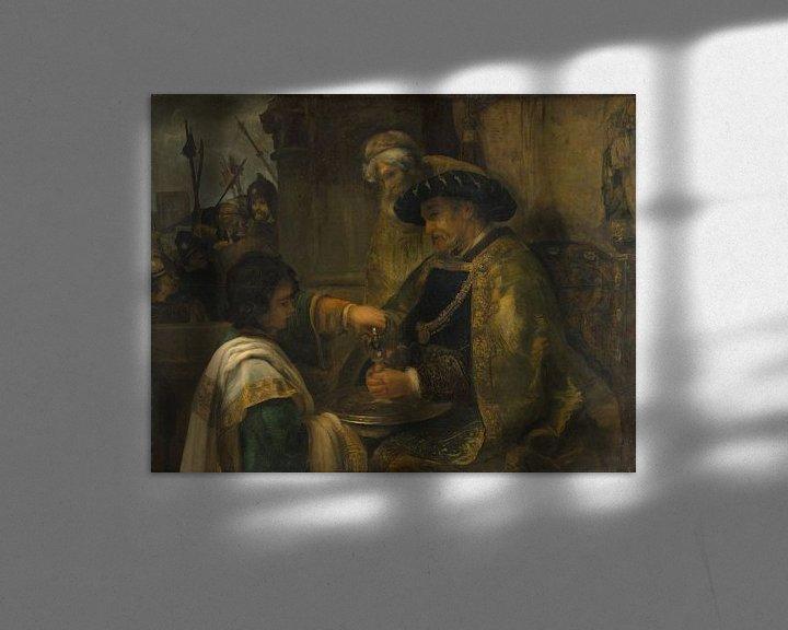 Beispiel: Pilatus wäscht seine Hände, Stil von Rembrandt
