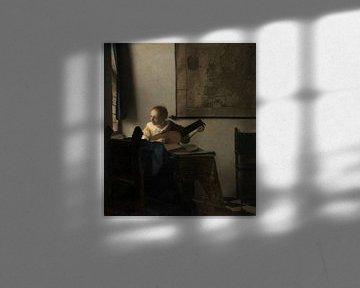 Frau mit einer Laute, Johannes Vermeer