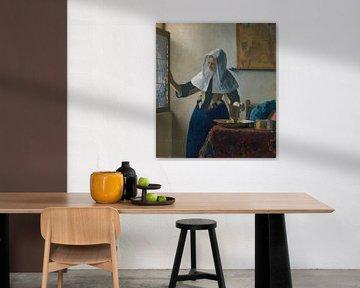 Junge Frau mit einem Wasserkrug, Johannes Vermeer