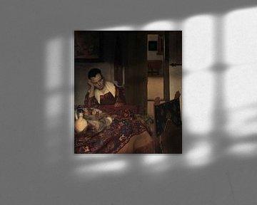 A Maid Asleep, Johannes Vermeer