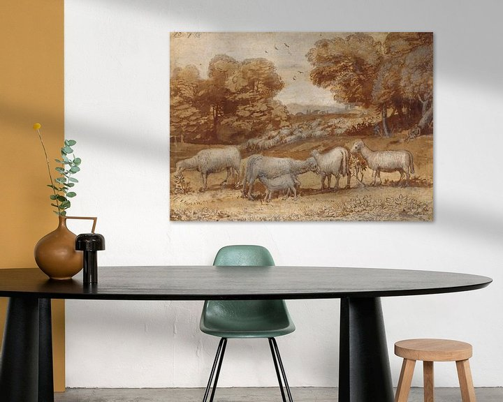 Beispiel: Landschaft mit Schaf, Claude Lorrain