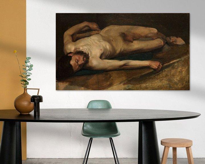 Beispiel: Männlicher Akt, Edgar Degas