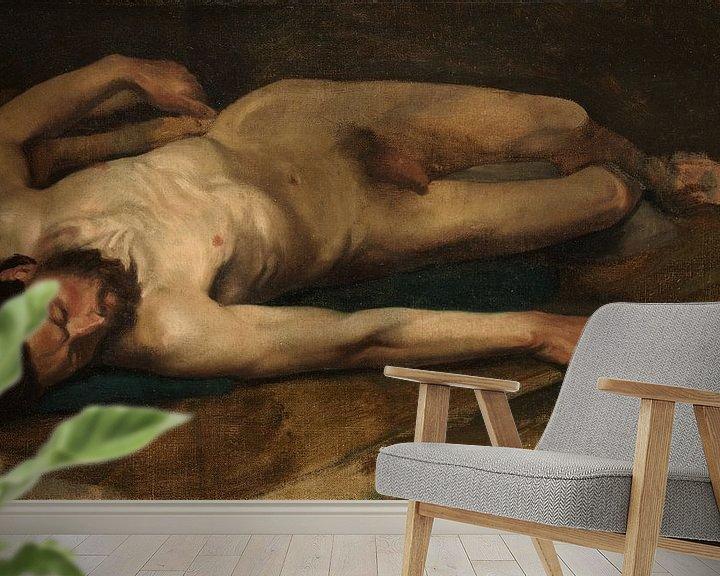 Beispiel fototapete: Männlicher Akt, Edgar Degas