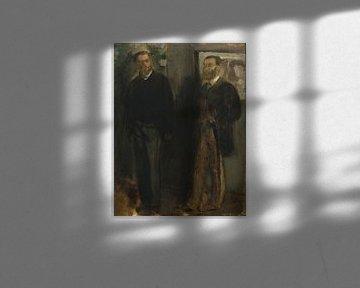 Zwei Männer, Edgar Degas