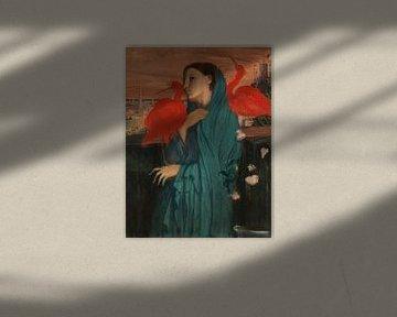 Junge Frau mit Ibis, Edgar Degas