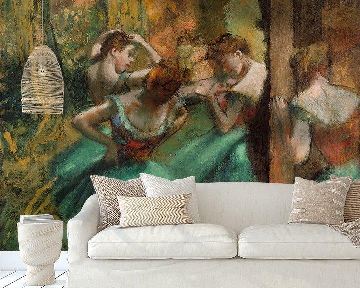Beispiel fototapete: Tänzer, Rosa und Grün, Edgar Degas