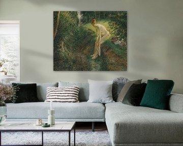 Badende im Wald, Camille Pissarro