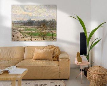 Der Garten der Tuilerien an einem Winternachmittag, Camille Pissarro