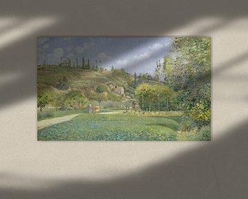 Ein Cowherd bei Valhermeil, Auvers-sur-Oise, Camille Pissarro