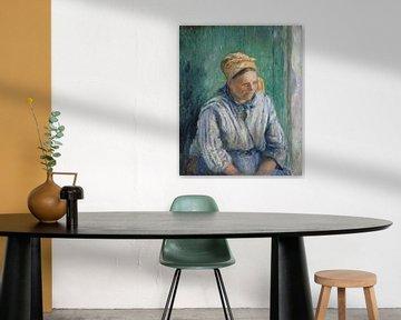 Wäscherin, Studie, Camille Pissarro