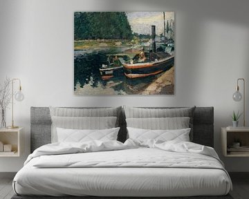 Barges bei Pontoise, Camille Pissarro