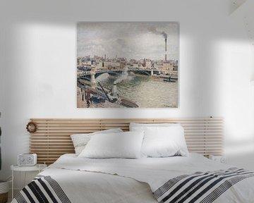 Morgen, ein trüber Tag, Rouen, Camille Pissarro