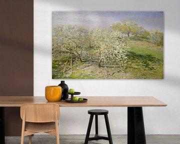 Frühling (Obstbäume in der Blüte), Claude Monet