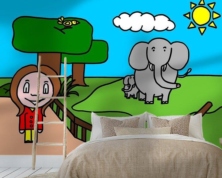 Beispiel fototapete: SUZ - zum Zoo (Elefant) von AG Van den bor