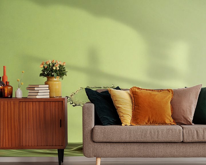 Sfeerimpressie behang: Waterdruppel Fotografie van Marc Piersma