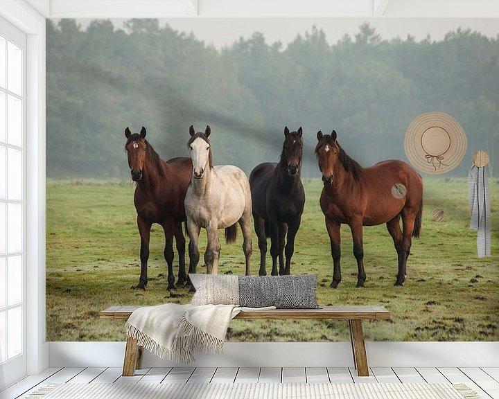 Impression: Nieuwsgierige paarden (II) sur Anneke Hooijer