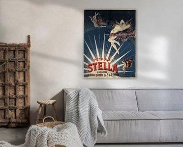 altes Plakat mit Werbung für Erdöl von Stella aus 1897 von Atelier Liesjes