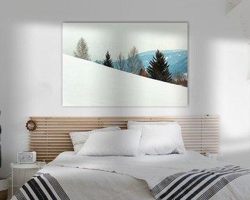 Sneeuwlandschap in Oostenrijk van Evert Jan Luchies