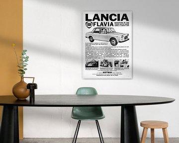 Lancia Flavia Sedan Werbung aus Beverly Hils, California, USA 1961