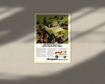 Jeep Jeepster Convertible reclame 1967 van Atelier Liesjes