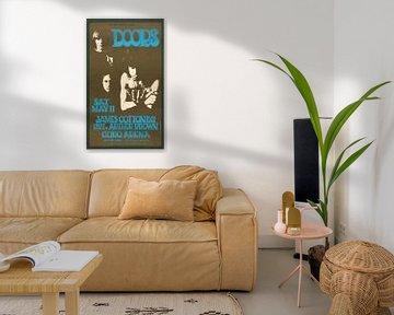 Reclameposter the Doors met Jim Morrison van Atelier Liesjes