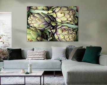 Fresh Sicilian Artichokes  van Silva Wischeropp