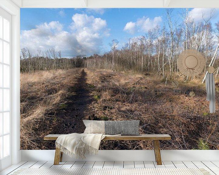 Sfeerimpressie behang: Natuurreservaat het Wooldse veen in Winterswijk van Tonko Oosterink