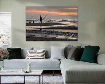 Fischer am Strand von Wil van der Velde
