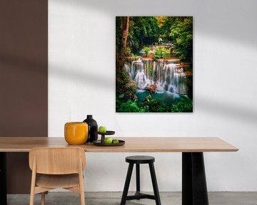 Huay Mae Khamin waterval Thailand van Niels Tichelaar