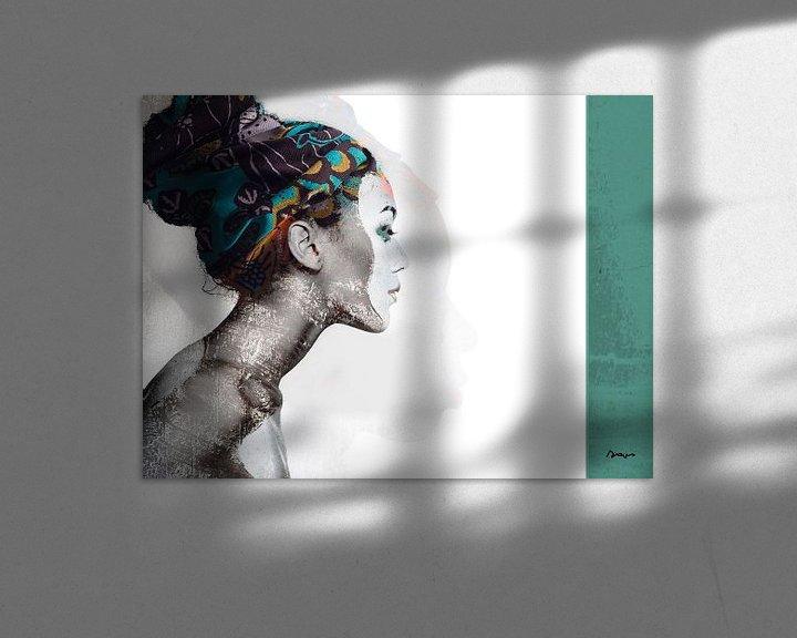 Sfeerimpressie: 21.  silhouet, portret, vrouw, Meta. van Alies werk