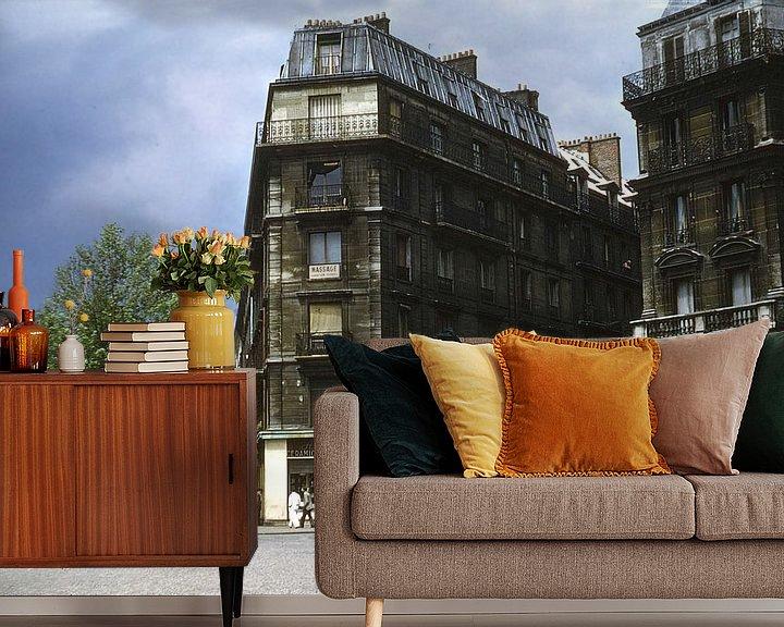 Sfeerimpressie behang: Vintage foto 1950 Parijs van Jaap Ros