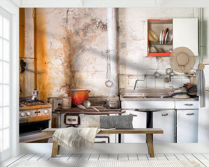 Beispiel fototapete: Küche im Verfall. von Roman Robroek