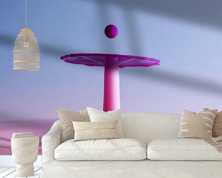 Sfeerimpressie behang: Splash Art Fotografie  van Marc Piersma