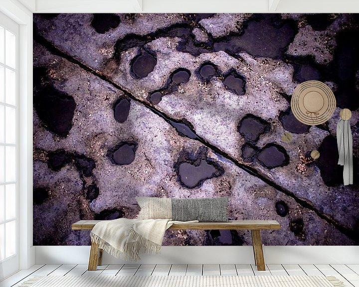 Sfeerimpressie behang: Rots streep van Joep Oomen