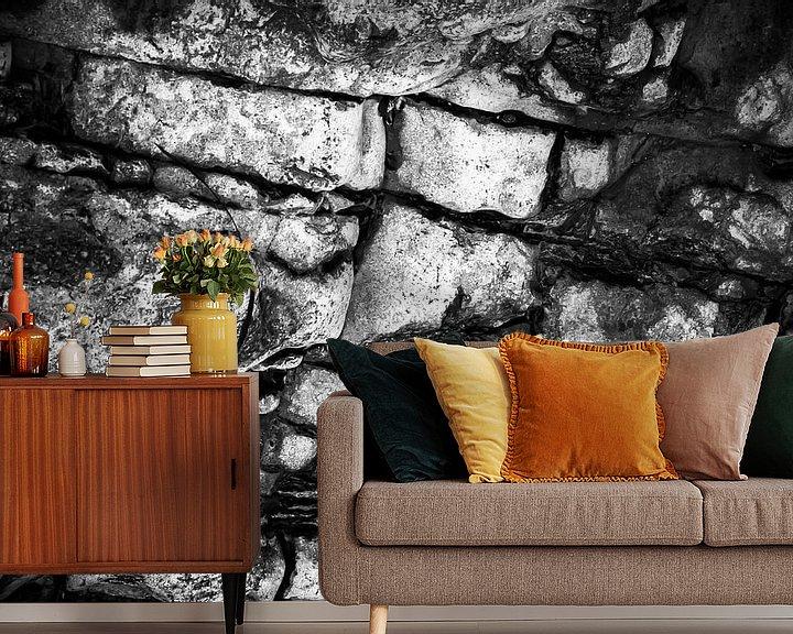 Sfeerimpressie behang: Rotsen van Joep Oomen