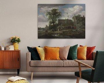 Grote of Sint-Laurenskerk aus dem Süden, Salomon van Ruysdael