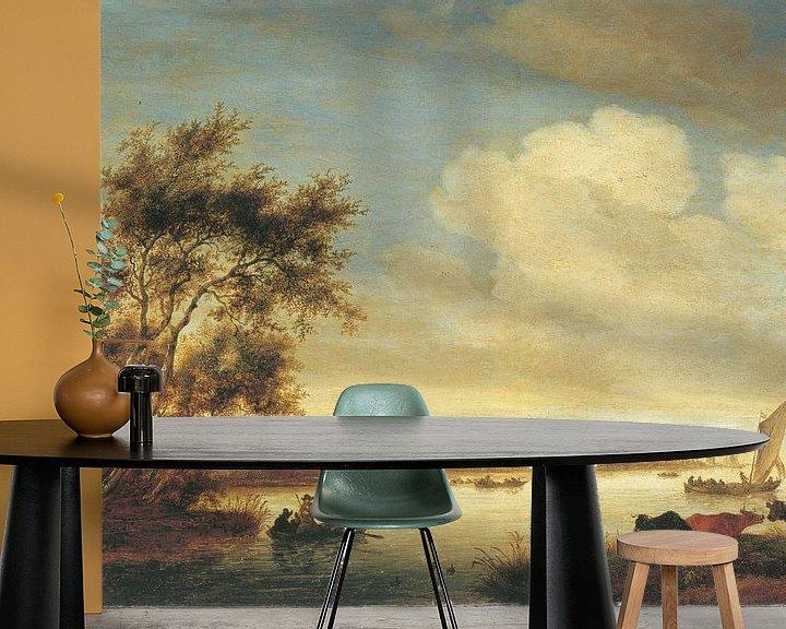 Beispiel fototapete: Laurenskerk von Norden gesehen, Salomon van Ruysdael