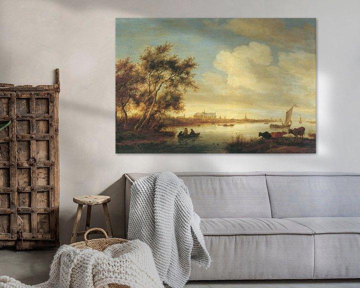 Beispiel: Laurenskerk von Norden gesehen, Salomon van Ruysdael