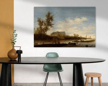 Der Laurenskerk aus dem Norden, Salomon van Ruysdael
