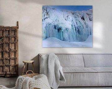 Bevroren waterval van Hamperium Photography