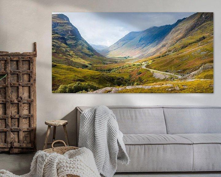 Beispiel: De pas naar Glencoe in de Schotse highlands von Rob IJsselstein