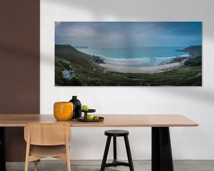 Sfeerimpressie: Surfers langs de kust van Zuid-West-Engeland van Anneke Hooijer