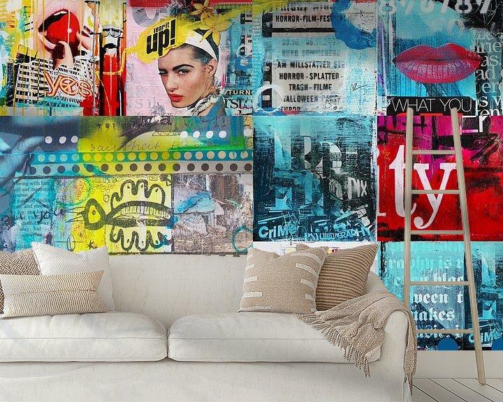 Sfeerimpressie behang: What you want van Janet Edens
