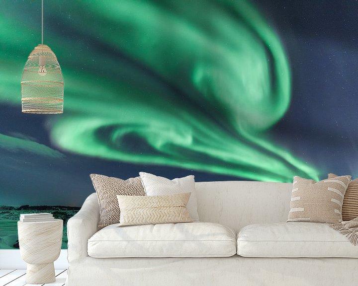 Sfeerimpressie behang: Noorderlicht van Frits Hendriks