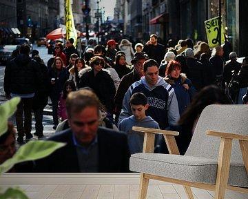 Mensen op straat van Jeroen Harmsen