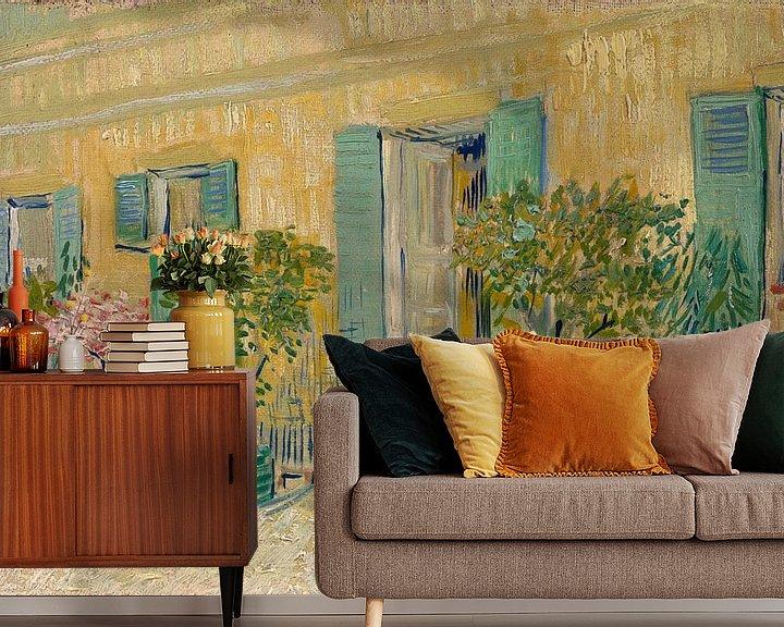 Sfeerimpressie behang: Vincent van Gogh, Voor een restaurant te Asnières