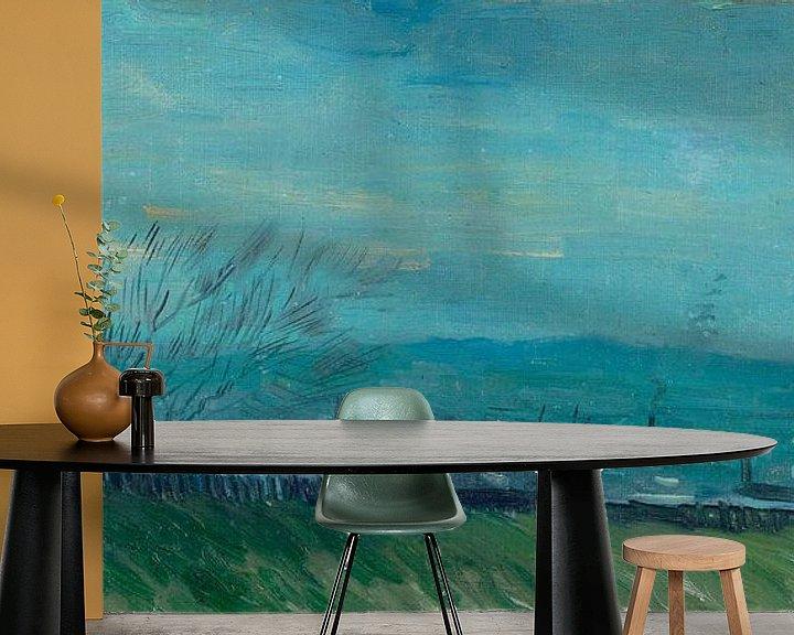 Sfeerimpressie behang: Vincent van Gogh, Zonsondergang te Montmartre