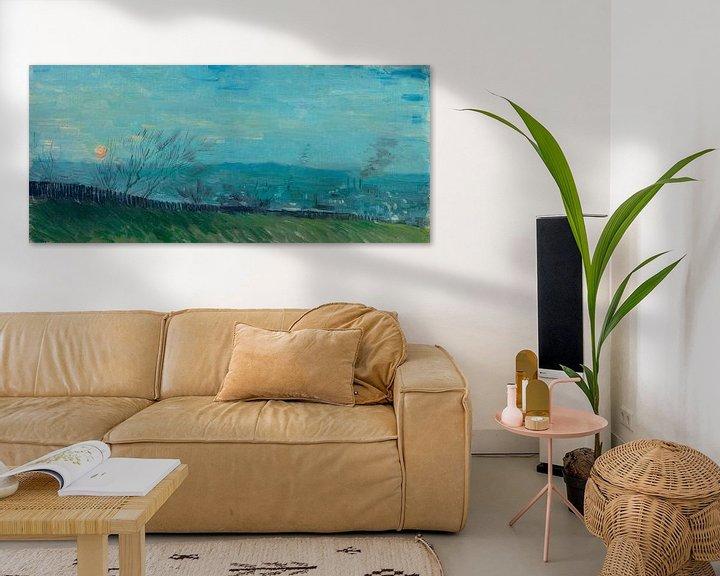 Sfeerimpressie: Vincent van Gogh, Zonsondergang te Montmartre