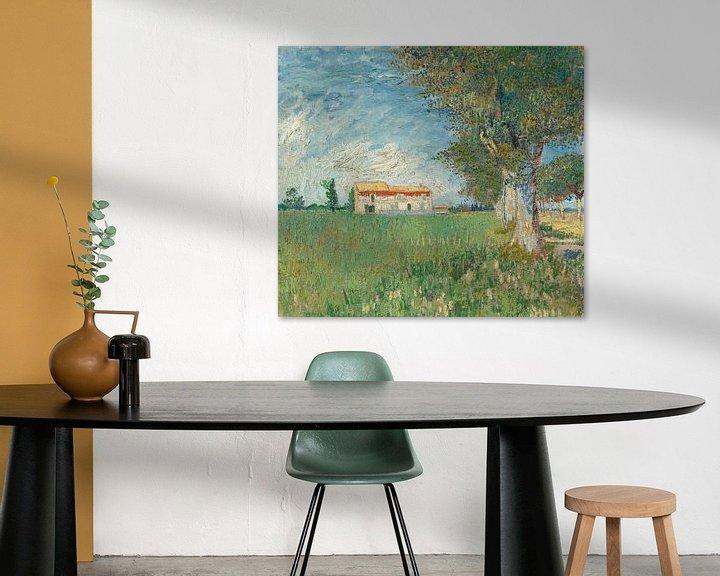 Sfeerimpressie: Vincent van Gogh, Boerderij in het koren